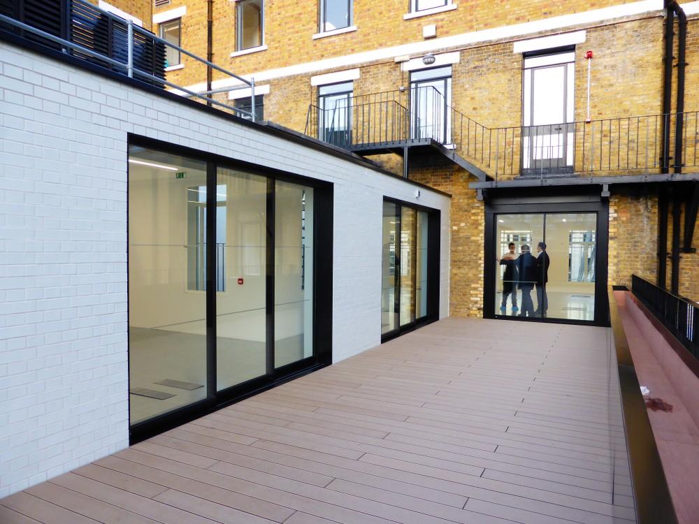 Modern English Classroom ~ White glazed bricks in english bond n r taylor